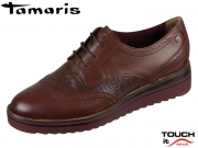 Tamaris 1-23729-23-442 chestnut-croco Materialmix Leder Synthetik