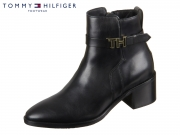 Tommy Hilfiger TH Hardware Leather Mid Bootie FW0FW04286-990 black
