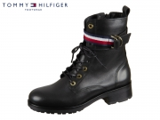 Tommy Hilfiger Corporate Ribbon Bikerboot FW0FW04326-990 black