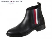 Tommy Hilfiger Sporty Monogram Flat Bootie FW0FW04327-990 black