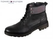 Tommy Hilfiger Winter Textile Mix Boot FM0FM02431-990 black Leather