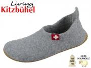 Living Kitzbühel 2449-610 grau Wollfilz Lammfellsohle
