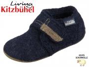 Living Kitzbühel 1609-590 nachtblau reine Schurwolle
