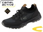 camel active Hill GTX 511.12-02 black dark grey Nubuk PU knitted