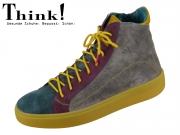 Think! Gring 85208-15 anthrazit kombi Washed Suede
