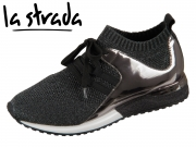 la strada Knitted Sneaker 1806936-4501 black knitted