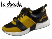la strada Laced Up Sneaker 1807433-6080 ocher black
