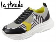 la strada Laced Up Sneaker 1818139-6090 Zebra Combi