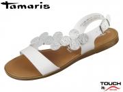 Tamaris 1-28139-22-191 white silver Mix Leder Synthetik