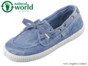 natural world 72777-90 blau washed