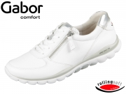 Gabor Rolling Soft 46.968-51 weiss silber Cervo Lamina