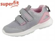 superfit RUSH 0-609207-2600 hellgrau rosa Textil Tecno