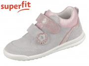superfit Avrile Mini 0-606373-2500 hellgrau rosa Velour Effektleder
