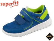 superfit Sport 7 mini 0-606197-8100 blau grün Velour Tecno Textil