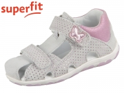 superfit FANNI 0-609041-2500 hellgrau rosa Velour Effektleder