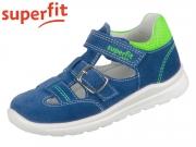 superfit MEL 0-600430-8100 blau hellgrün Velour Textil