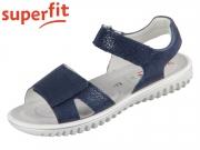 superfit SPARKLE 0-609004-8000 blau Effektleder Velour