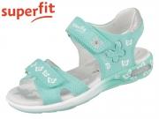 superfit EMILY 0-606131-7000 grün Velour Textil