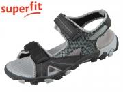 superfit HIKE 0-609450-0000 schwarz hellgrau Tecno Textil
