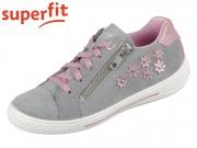 superfit TENSY 0-609108-2500 hellgrau rosa Velour Effektleder