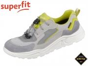 superfit BLIZZARD 0-609322-2500 grau gelb Velour Tecno Textil