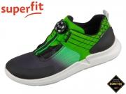 superfit THUNDER 0-609399-0000 schwarz grün Tecno Velour