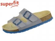 superfit Fussbettpantoffel 6-00111-20 grau Tecno