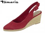 Tamaris 1-29613-24-523 ruby Leder