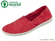 natural world 615E-652 rojo Baumwolle organic cotton