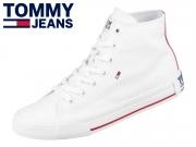 Tommy Hilfiger Midcut Essential Sneaker EN00795-YBS white