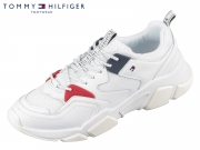 Tommy Hilfiger Chunky Mixed Textile Runner FW04065-100 white