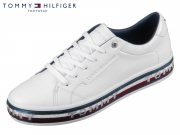 Tommy Hilfiger Sequin Foxy Dress Sneaker FW04703-YBS white