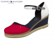 Tommy Hilfiger Basic Closed Toe Mid Wedge FW04787-0KP RWB