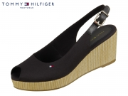 Tommy Hilfiger Iconic Elba Sling Back Wedge FW04788-BDS black