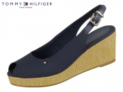 Tommy Hilfiger Iconic Elba Sling Back Wedge FW04788-DW5 desert sky