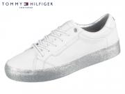 Tommy Hilfiger Glitter Foxy Dress Sneaker FW04849-0K5 white silver