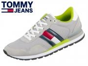 Tommy Hilfiger CasualTommy Jeans Sneaker EM00399-PRT antique silver