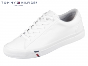 Tommy Hilfiger Essential Leather Sneaker FM02672-YBS white