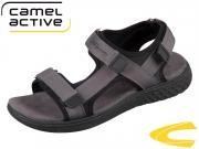 camel active  Trek 553.11-01 dk grey black Webbing Neopren