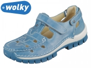 Wolky Move 0470335-815 sky blue Oxford Leather