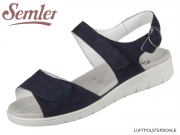 Semler Dunja D4045042080 midnightblue Samt-Chevro