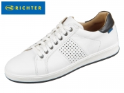 Richter 6816-7132-0101 white black Glattleder
