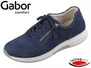 Gabor 46.945-46 blue Nubuk