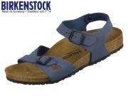 Birkenstock Rio 1012504 navy Easy Nubuk Birkoflor