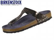 Birkenstock Gizeh 1016420 gator gleam black Birkoflor