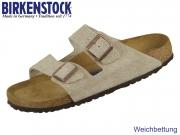 Birkenstock Arizona 951303 taupe Veloursleder Suede