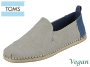 TOMS Deconstructed Alpargata Rope 10013214 grey washed Canvas