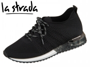 la strada Knitted Sneaker 1832649-4501 black knitted