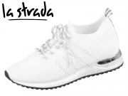 la strada Laced Up Knitted Sneaker 1802649-4504 white knitted