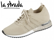 la strada Laced Up Knitted Sneaker 1802649-4522 beige knitted
